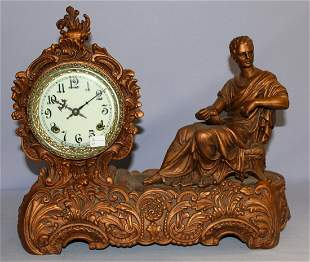 "New Haven ""Octavius"" Figure Mantle Clock"