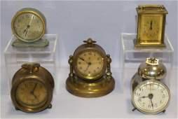 Lot of 5 Novelty Desk & Mantle Clock