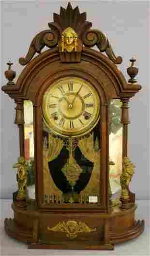 Ansonia Triumph Mirror Sided Parlor Clock