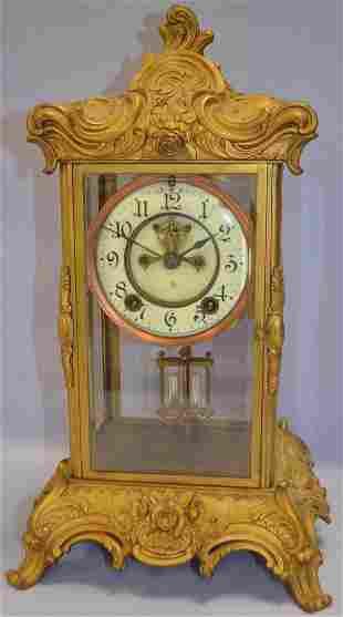 "Ansonia ""ZENITH"" Crystal Regulator Mantle Clock"