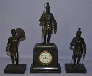 Antique New Haven 3 Pc Trojan Warrior Novelty Set