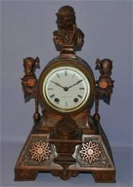 Seth Thomas & Sons Bronze Figural Mantle Clock
