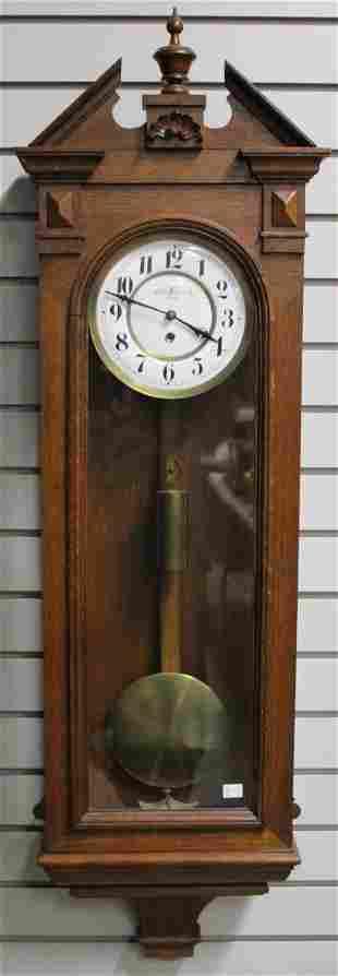 RARE Antique Oscar Meindl Oak Vienna Regulator