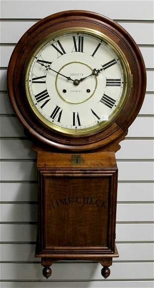 Vintage Walnut Case CORBETTs Patent Wall Clock