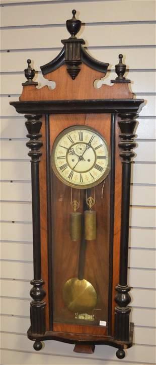 German 2 Weight Vienna Regulator Wall Clock