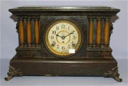 Seth Thomas Adamantine 6 Column Mantle Clock