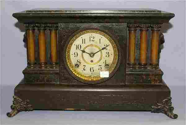 Seth Thomas Adamantine 6 Column Mantle Clock