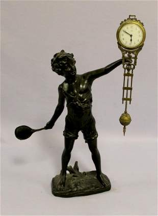 Vintage Statue with Junghans Swinging Clock