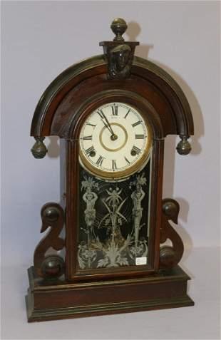 Ansonia (Parisian) Walnut Kitchen Mantle Clock