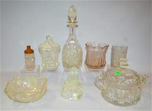 8 Pattern Glass, Pressed Glass and Fenton Glass