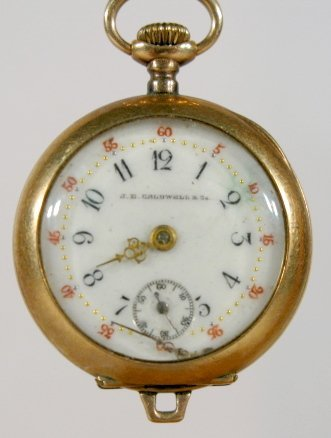 1: J.E. Caldwell & Co. 14K 000S Pocket Watch