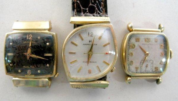 2: Group of 3 Hamilton Wrist Watches