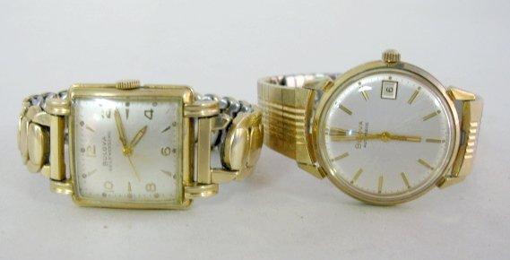 3: 2 Bulova RGP Wrist Watches w/Bands