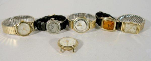 5: Group of 6 Hamilton Wrist Watches-19J & 17J