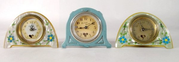 8: 3 Lux Novelty Clocks- Peters Shoes Adv. & Others