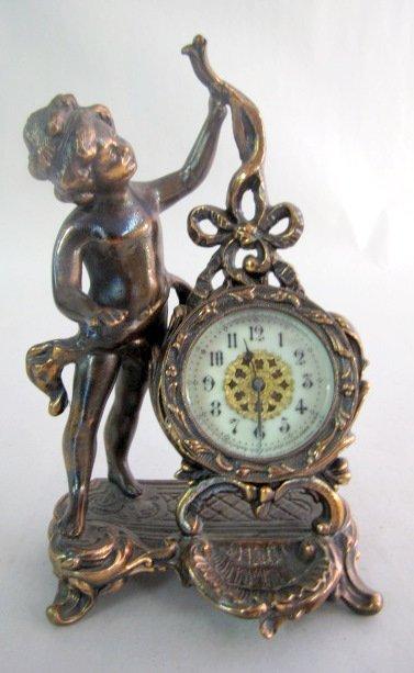 "10: New Haven ""Eldora"" Figural Novelty Clock"