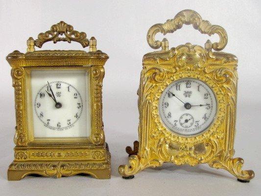 "12: 2 Waterbury Carriage Clocks, ""Major"" & Other"