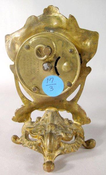 17: 3 Metal Art Nouveau Novelty Clocks - 3
