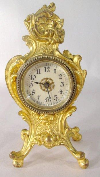 17: 3 Metal Art Nouveau Novelty Clocks - 4