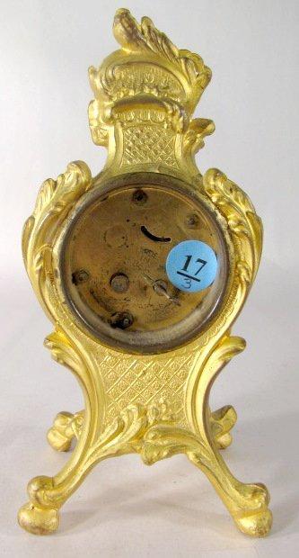 17: 3 Metal Art Nouveau Novelty Clocks - 5
