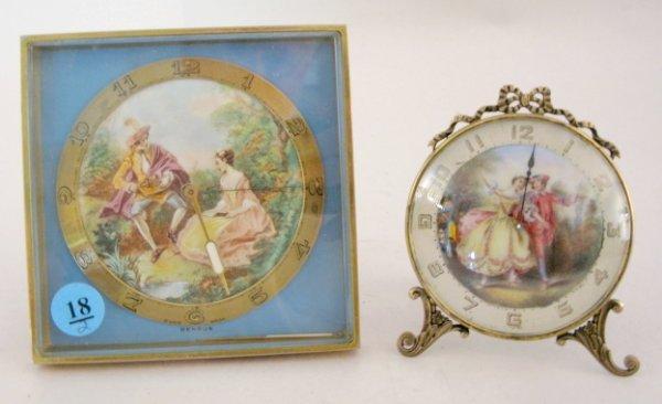 18: 2 Desk Clocks, Benrus & German