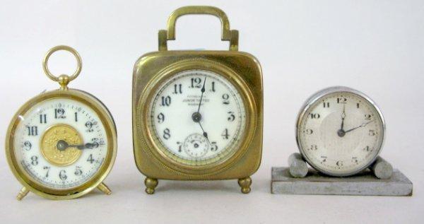 20: 3 Desk Clocks, Ansonia, Deco & Other