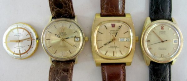 23: 4 Omega Wrist Watches: Chronometers & Other