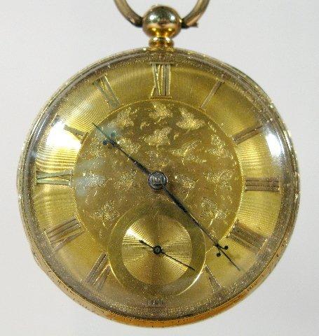 108: Parkinson 18K KW Lever Fusee Pocket Watch