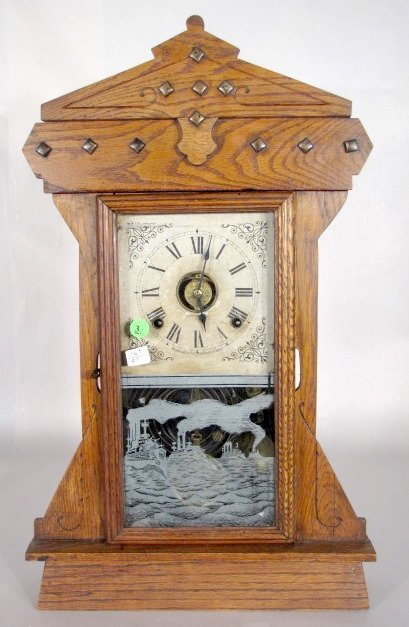 3: Seth Thomas Fleet No.2 Oak Mantel Clock