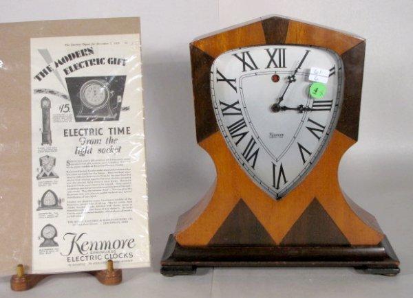 4: Kenmore Glastonbury Electric Clock, Art Deco