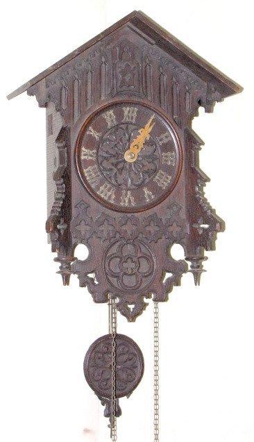 8: 2 Wt. Pierced Carved Cuckoo Clock