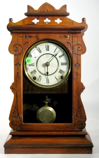 10: Seth Thomas Walnut Kitchen Clock