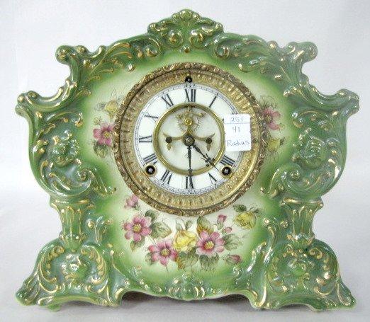 """12: Ansonia """"Radius"""" China Clock"""