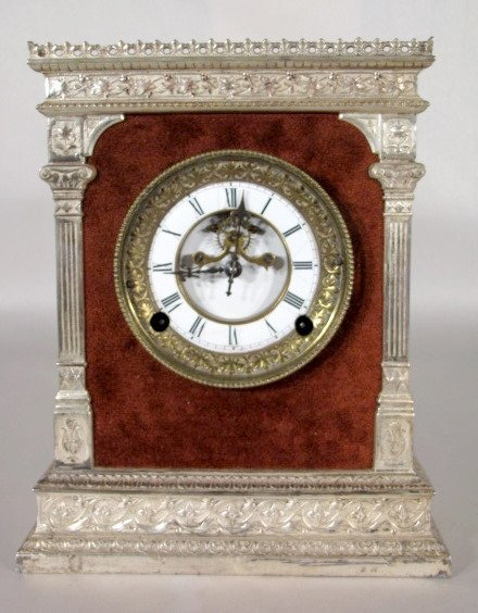 14: N. Muller & Sons Plush Mantel Clock