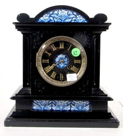 17: Japy Freres French Slate Mantel Clock
