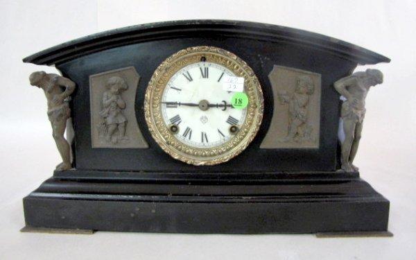 18: Ansonia Monterey Enameled Iron Clock