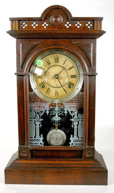 23: Seth Thomas Walnut Kitchen Clock