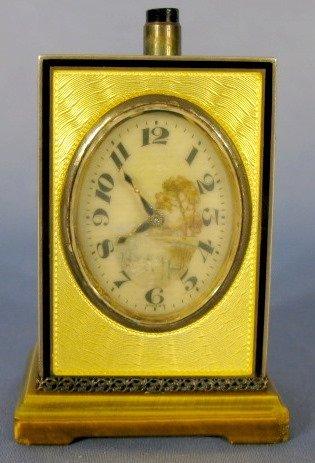 52: D. F. Lucerne Sterling & Enamel Sonnerie Clock