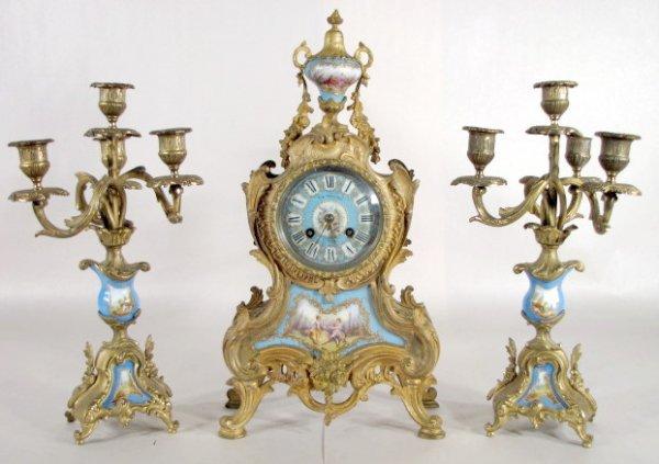 131A: French Garniture w/L. Marti Movement