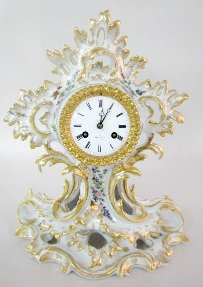 204: Henry Marc, Paris Porcelain Clock