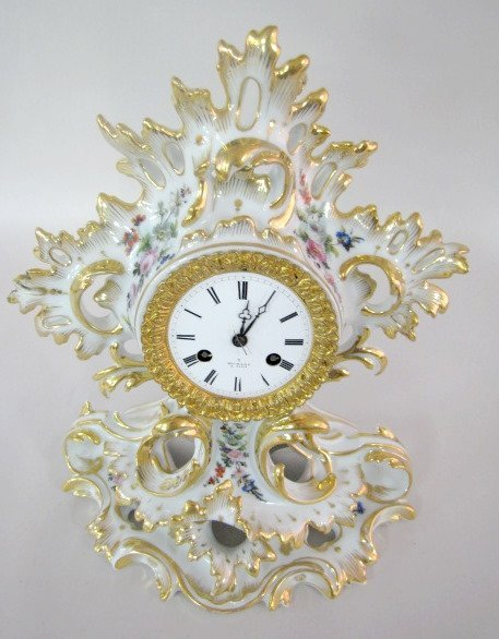 204: Henry Marc, Paris Porcelain Clock - 2