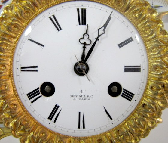 204: Henry Marc, Paris Porcelain Clock - 3