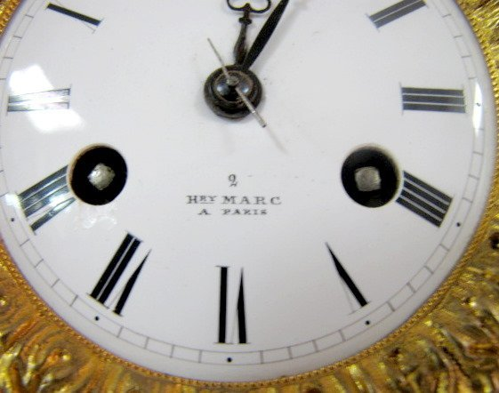 204: Henry Marc, Paris Porcelain Clock - 4