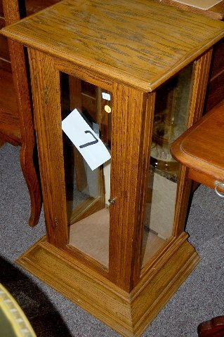 7: Modern Oak Display Cabinet