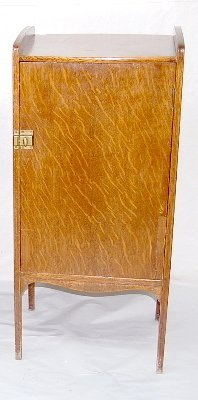 17: Oak Record Cabinet, One Door