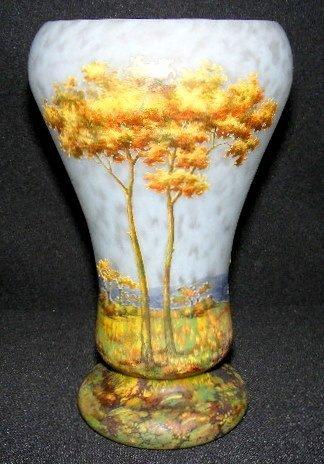 197: Daum Nancy Fall Scenic French Cameo Vase