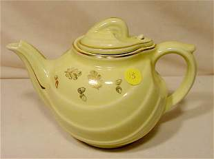"""Marked Hall """"Parade"""" 6 Cup Teapot Canary Gold NR"""