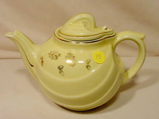 """13: Marked Hall """"Parade"""" 6 Cup Teapot Canary Gold NR"""