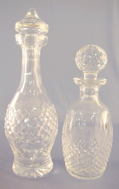 1: 2 Crystal Decanters- Waterford & Other