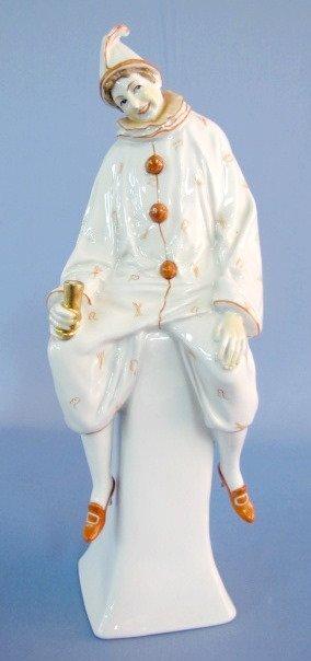 6: German Porcelain Clown on a Pedestal